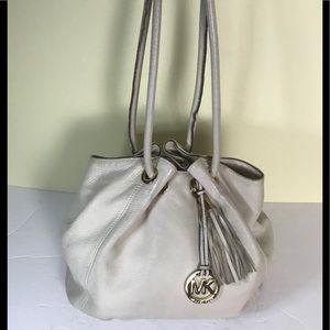 Michael Kors Pebble Leather Hobo Tote Bag Tassle